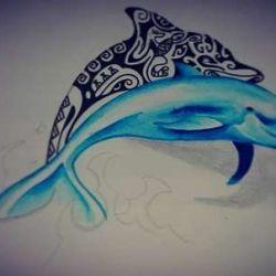 дельфин эскиз