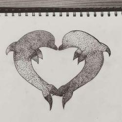 Тату дельфин фото, эскиз