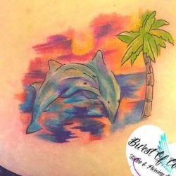 тату дельфин фото