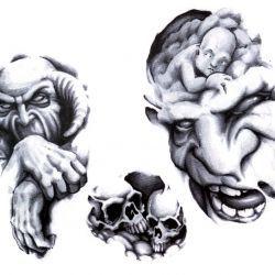 Три эскиза с демоном