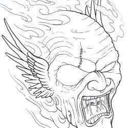 Только что нарисованный эскиз демона