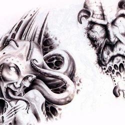 Демон в виде осьминога