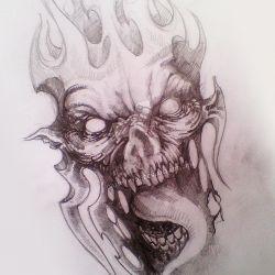 Демон с высунутым языком