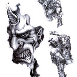 Демон с рогов в голове