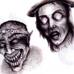 Жуткий эскиз демонов