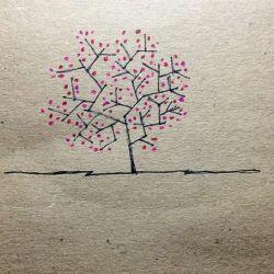 татуировка дерево фото, эскиз