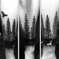 татуировка дерево фото