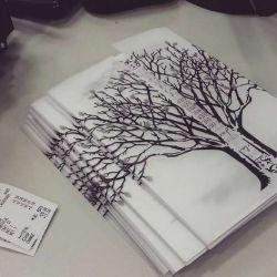 Тату дерево фото, эскиз