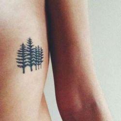 татуировка дерево фотография
