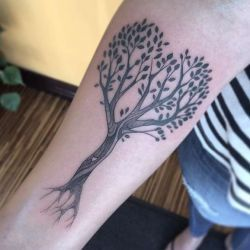 Тату дерево фото