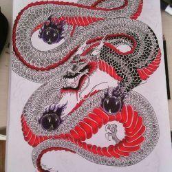 Татуировка дракон эскиз