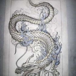 тату дракон фото, эскиз