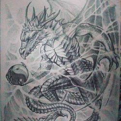 дракон эскиз