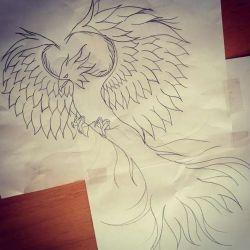эскиз феникс