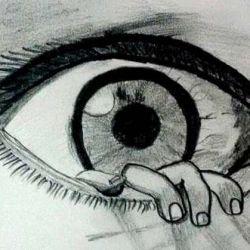 глаз фото, эскиз