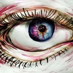эскиз татуировка глаз