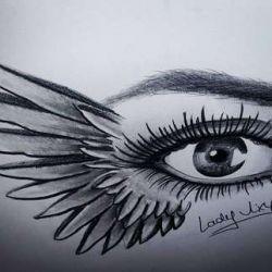 эскиз глаз