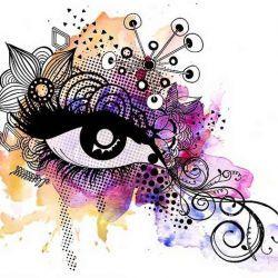 Татуировка глаз эскиз