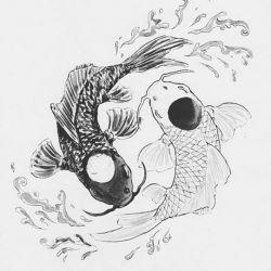 Татуировка инь-янь эскиз
