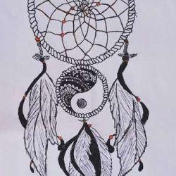 фото, эскиз татуировка инь-янь