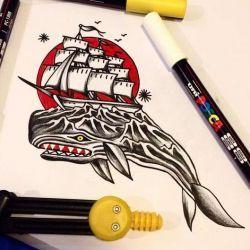 Татуировка кит фото, эскиз