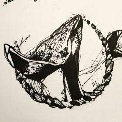 Тату кит эскиз