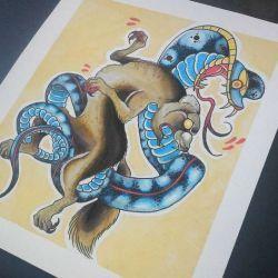 эскиз кобра