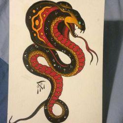 кобра эскиз