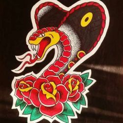 Татуировка кобра эскиз