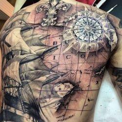 фото татуировка корабль