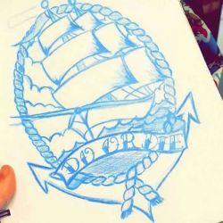 корабль фото, эскиз