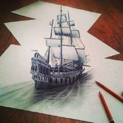 эскиз корабль
