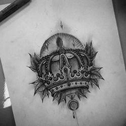 татуировка корона эскиз