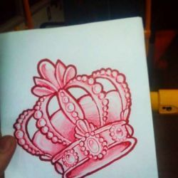 татуировка корона фото, эскиз