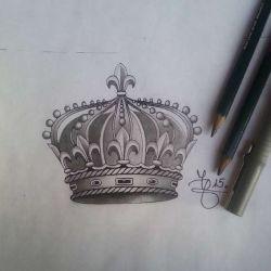 Тату корона фото, эскиз