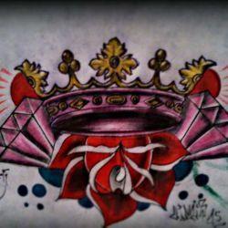 эскиз тату корона