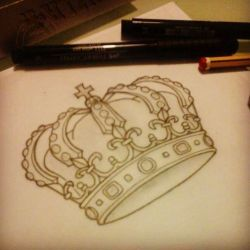 фото, эскиз тату корона