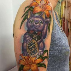 фото татуировка кошка