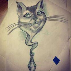 кошка эскиз