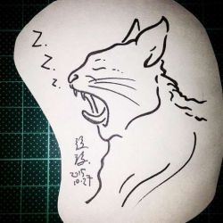 кошка фото, эскиз