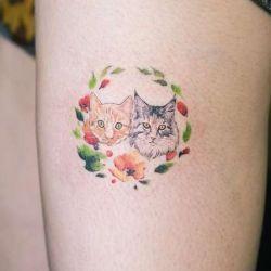татуировка кошка фото
