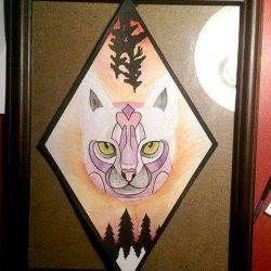 фото, эскиз татуировка кошка