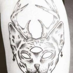 Татуировка кот эскиз
