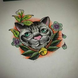 кот эскиз