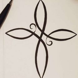 татуировка крест фото, эскиз