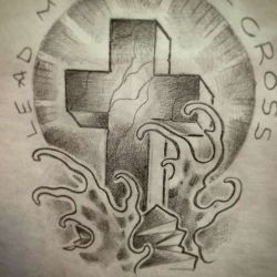 фото, эскиз крест
