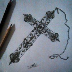 крест эскиз