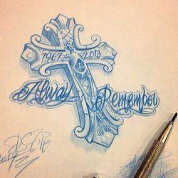 Татуировка крест эскиз