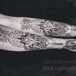 фотография татуировка кружево