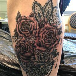 татуировка кружево фотография